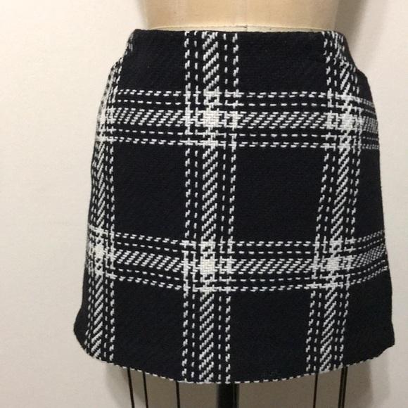 cad98a757 GAP Dresses & Skirts - GAP black White Plaid wool mini skirt checkered